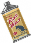 Rat Wax RETRO OIL CAN Funny Design For Rat Look VW Vinyl Car sticker decal 110x55mm